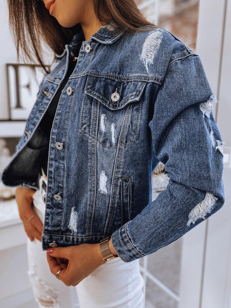 Kurtka damska jeansowa oversize LANA niebieska Dstreet TY1660