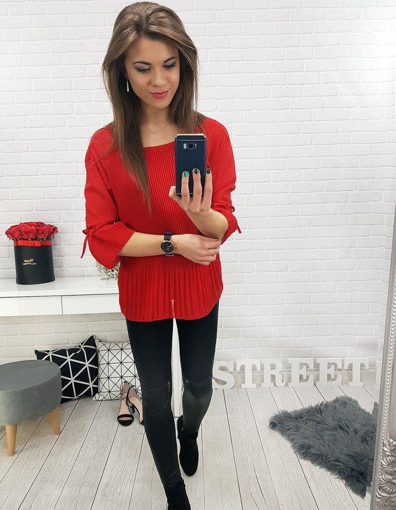 Bluzka damska ALENA czerwona (ry0515)