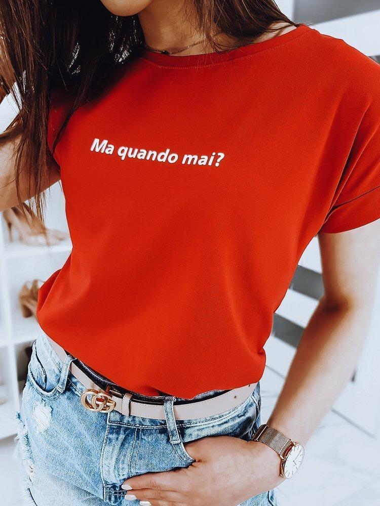 T-shirt damski SENIORITA czerwony RY1270