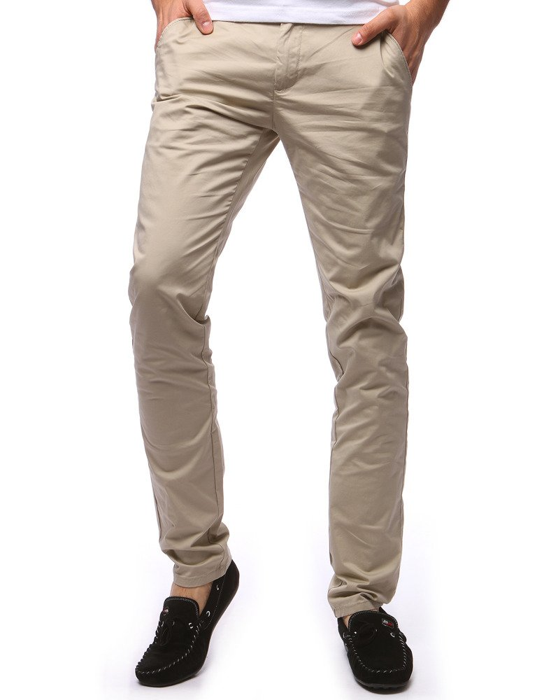 Spodnie męskie chinos beżowe UX1257