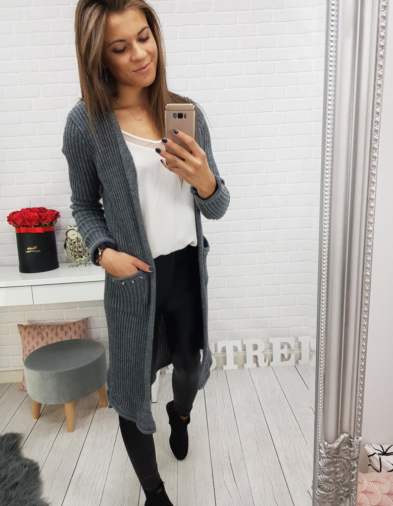 Sweter damski BOISE antracytowy MY0302