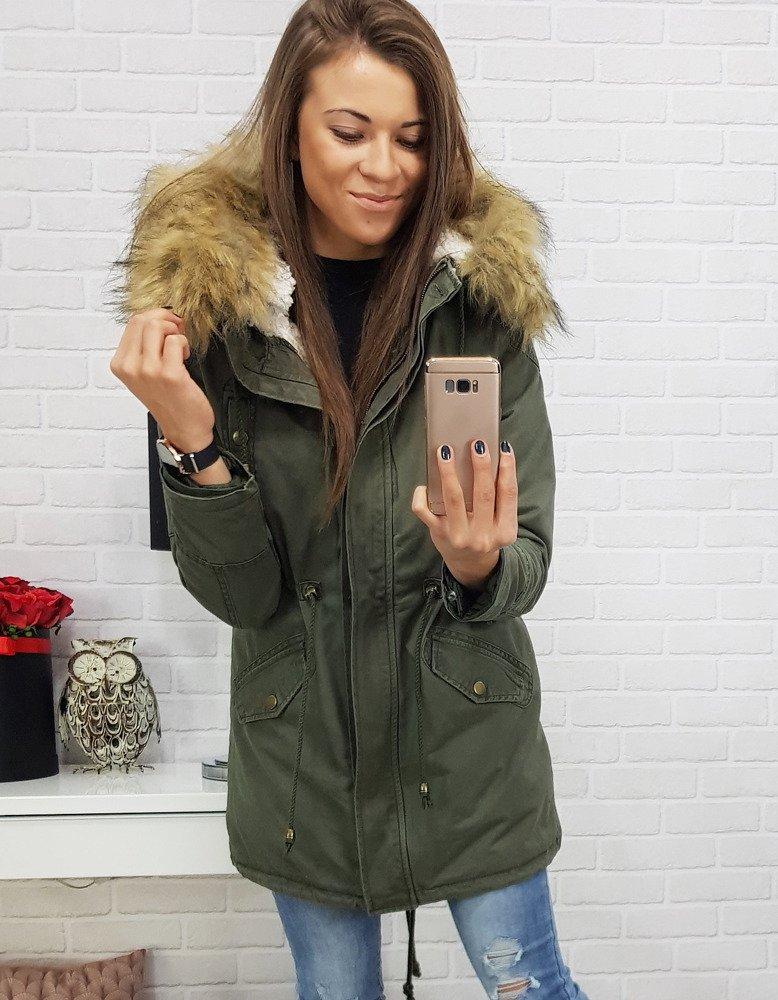 Dámska zimná bunda s kapucňou (ty0399)