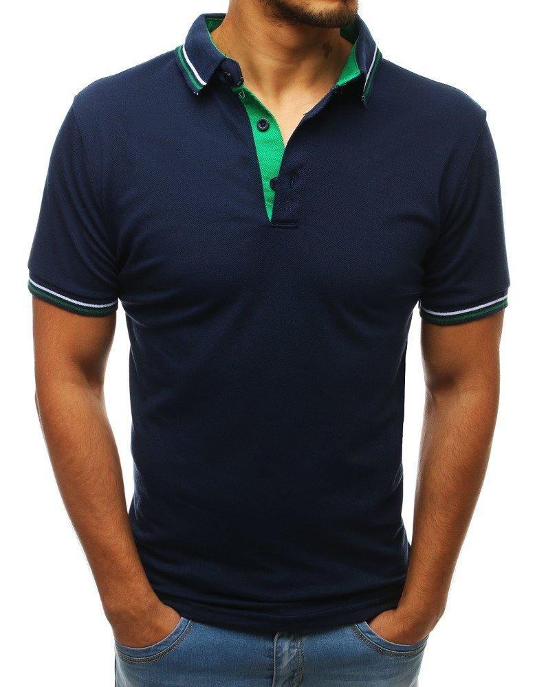 Pánske námornícka modré polo tričko