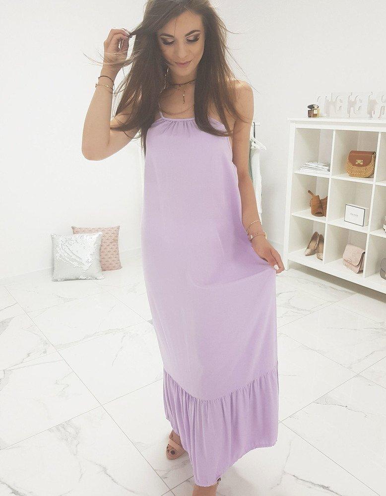 Krásne fialové dámske šaty (ey0940)