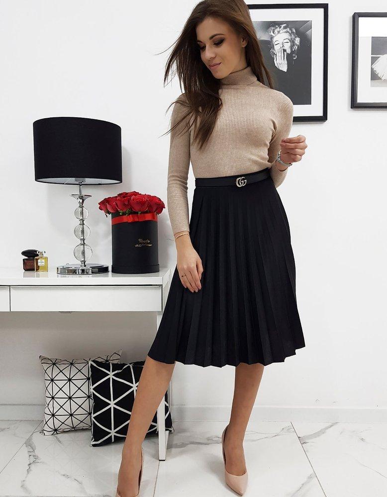 Plisovaná sukňa čierna