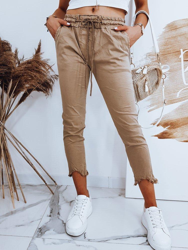 Spodnie damskie DAVIDS kamelowe UY0520