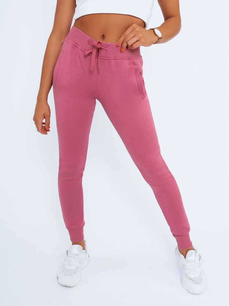 Spodnie damskie dresowe FITS purpurowe UY0579