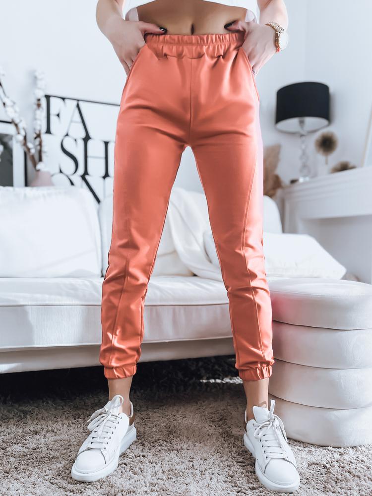 Spodnie damskie dresowe STIVEL brzoskwiniowe Dstreet UY0908
