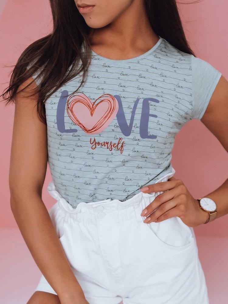 T-shirt damski LOVE YOURSELF miętowy Dstreet RY1841