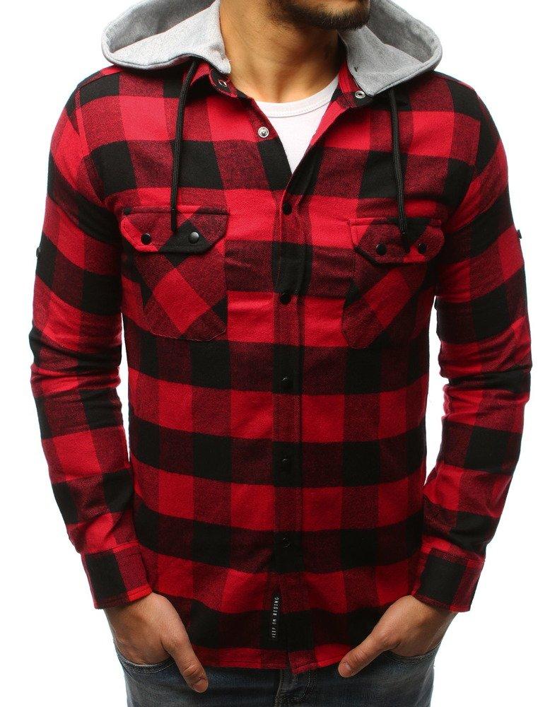 Pánska košeľa čierno-červená
