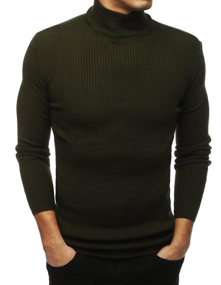 Štýlový pánsky khaki sveter (wx1433)