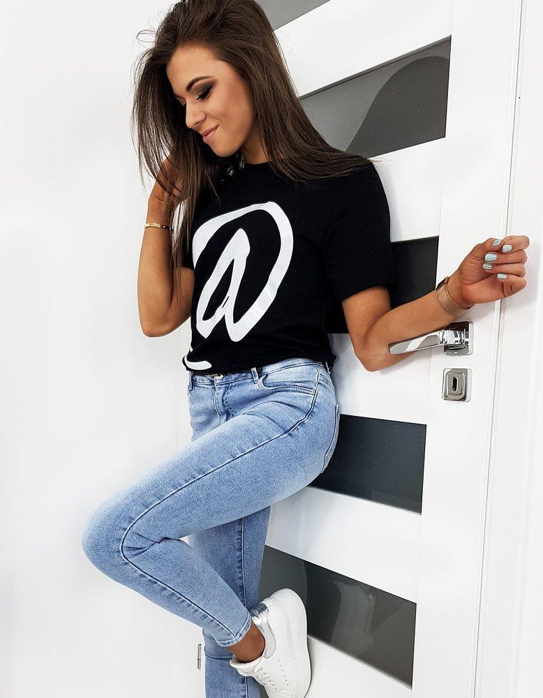 T-shirt damski CONTACT czarny RY1228