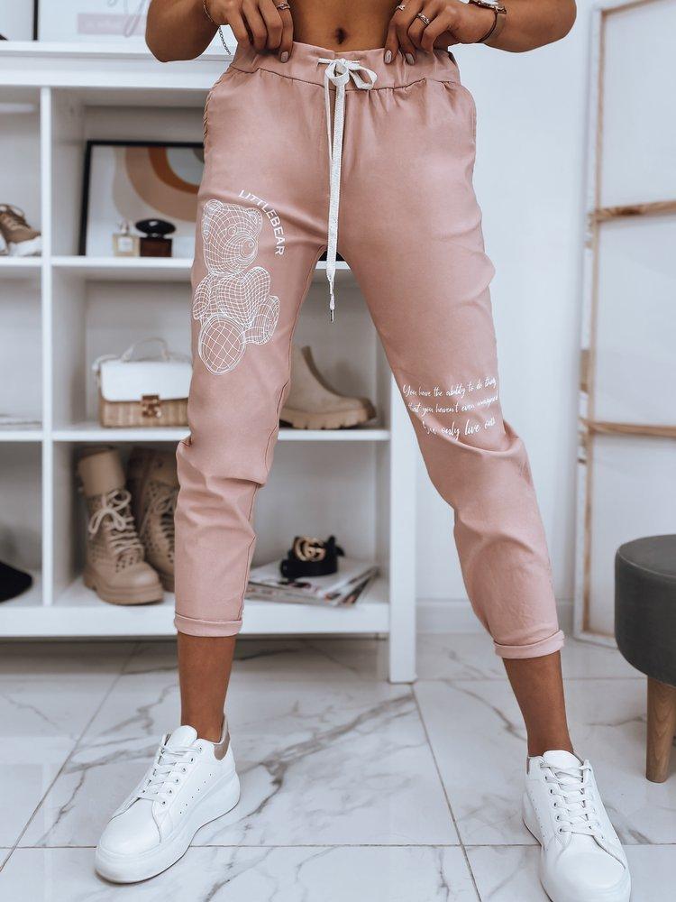 Spodnie damskie dresowe BEAR II różowe UY0768