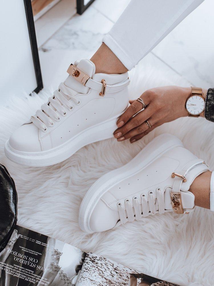 Sneakersy damskie NAUSA białe ZY0041