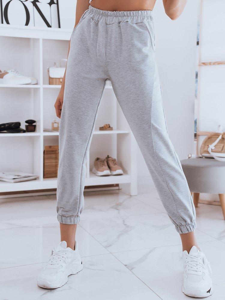 Spodnie damskie dresowe STIVEL jasnoszare Dstreet UY0918