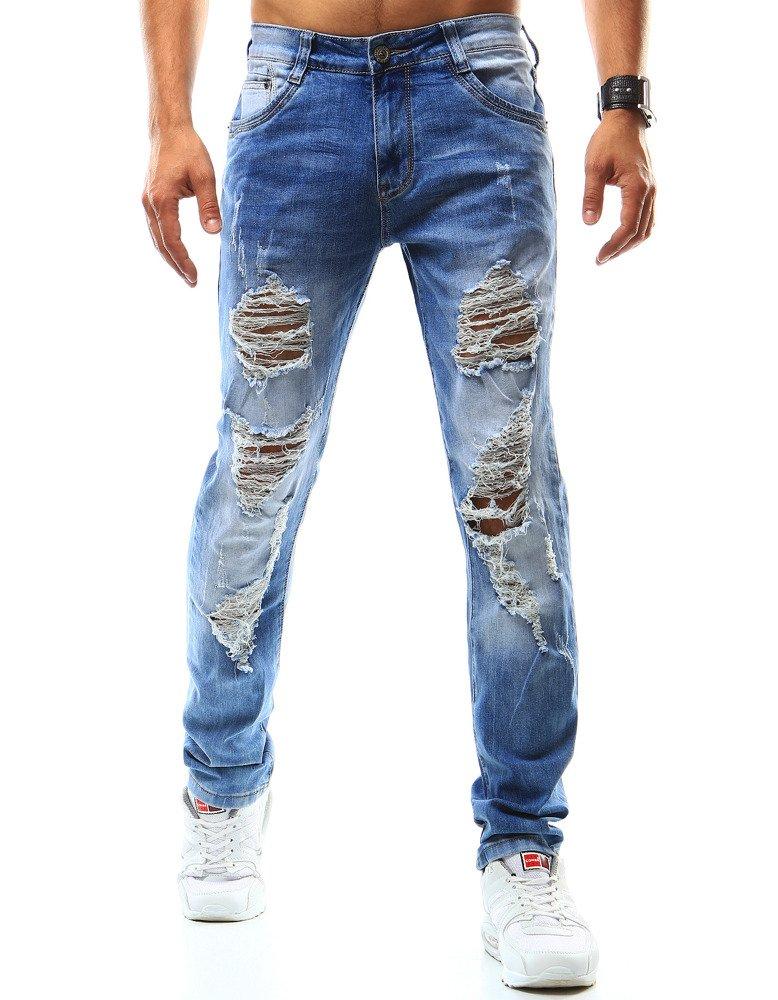 Spodnie jeansowe męskie niebieskie UX0943