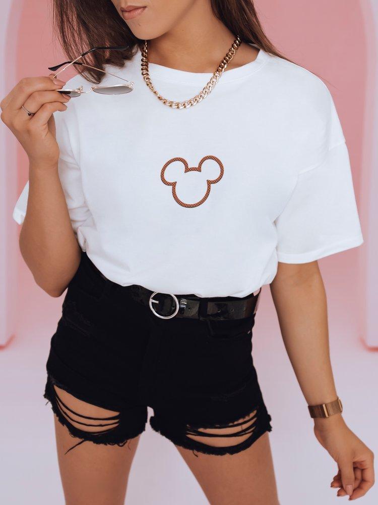 T-shirt damski MICKY DUO ecru RY1426