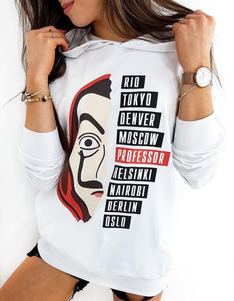 Bluza damska PROFESSOR biała BY0376