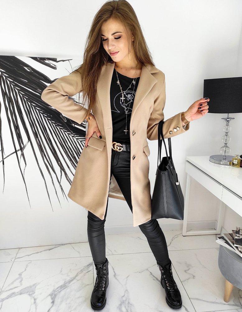 Płaszcz damski BELLA beżowy NY0390