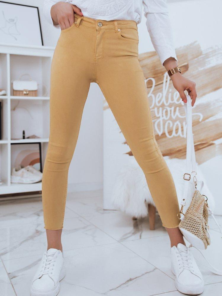 Spodnie damskie jeansowe BIJU beżowe UY0698