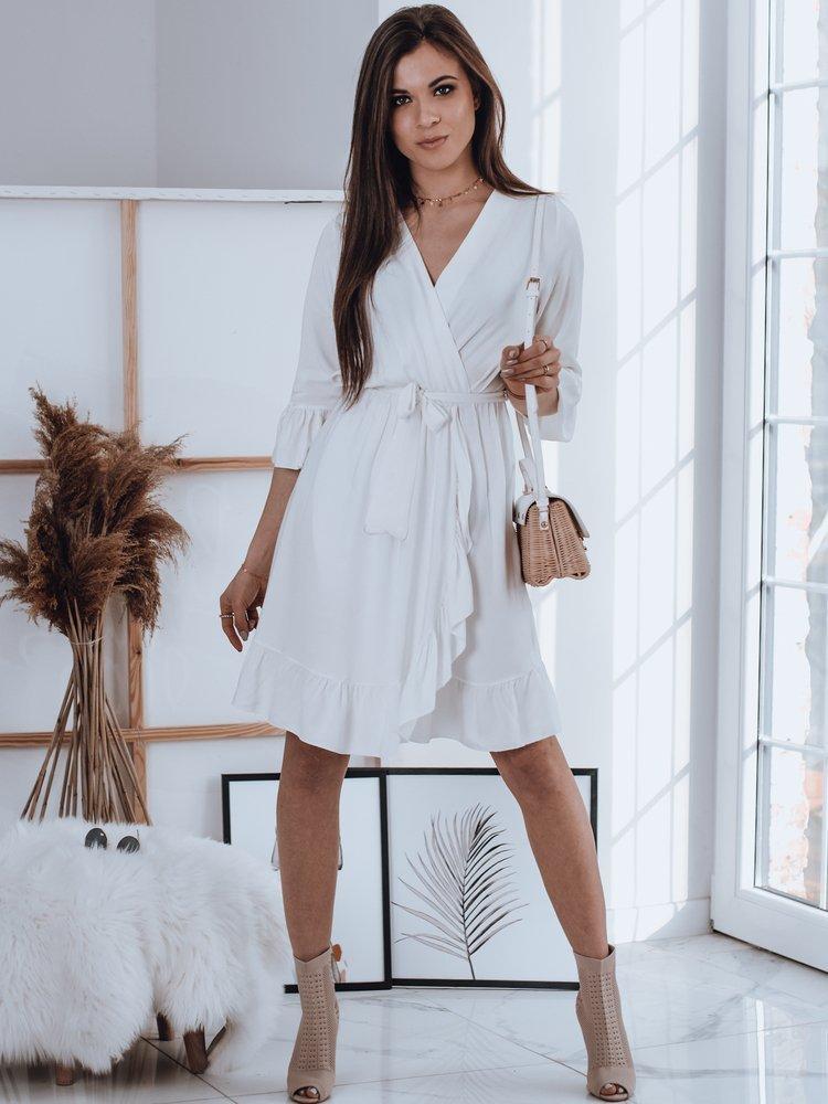 Biele zavinovacie šaty