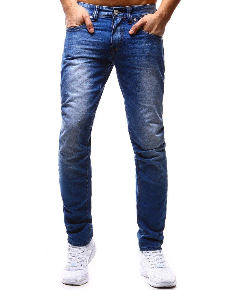 Spodnie jeansowe męskie niebieskie UX1188