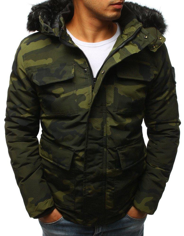 Pánska bunda na zimu v maskáčovom dizajne (tx2314)