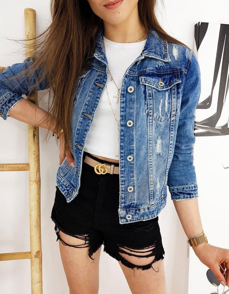 Kurtka damska jeansowa FEMTEGO niebieska TY1252