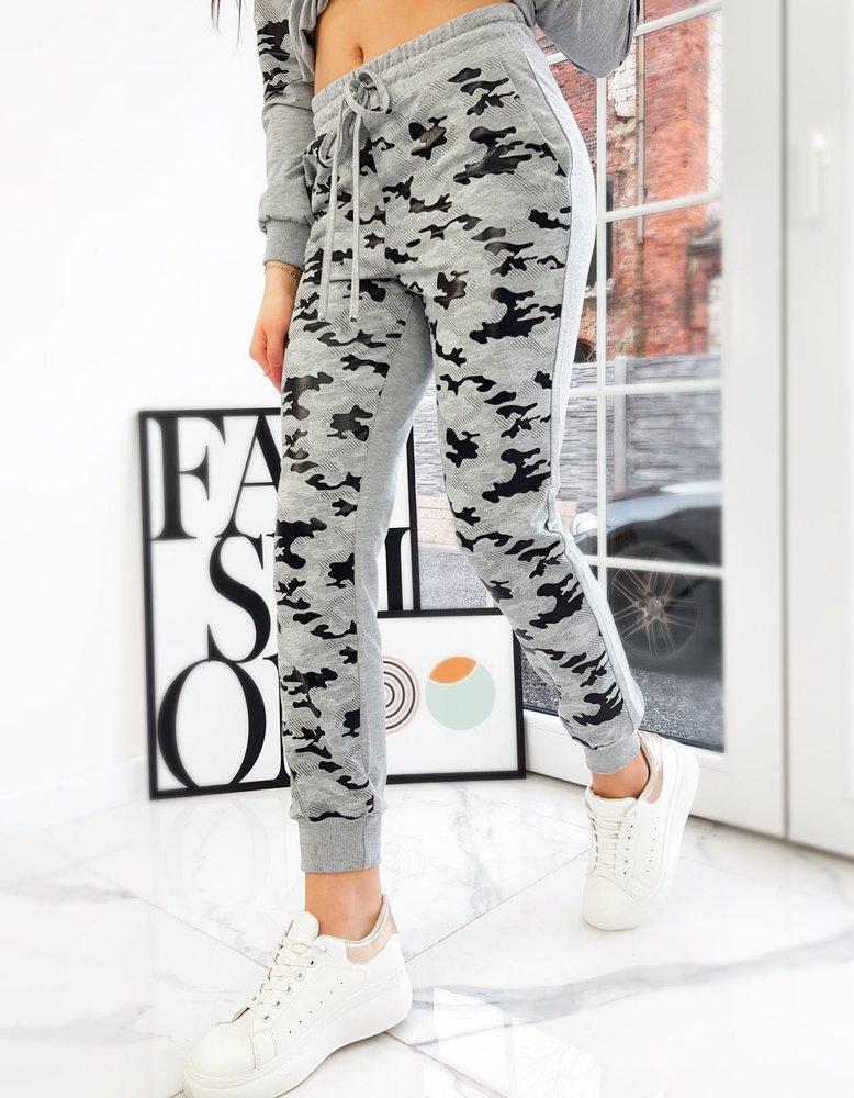 Spodnie damskie dresowe EVA jasnoszare UY0739