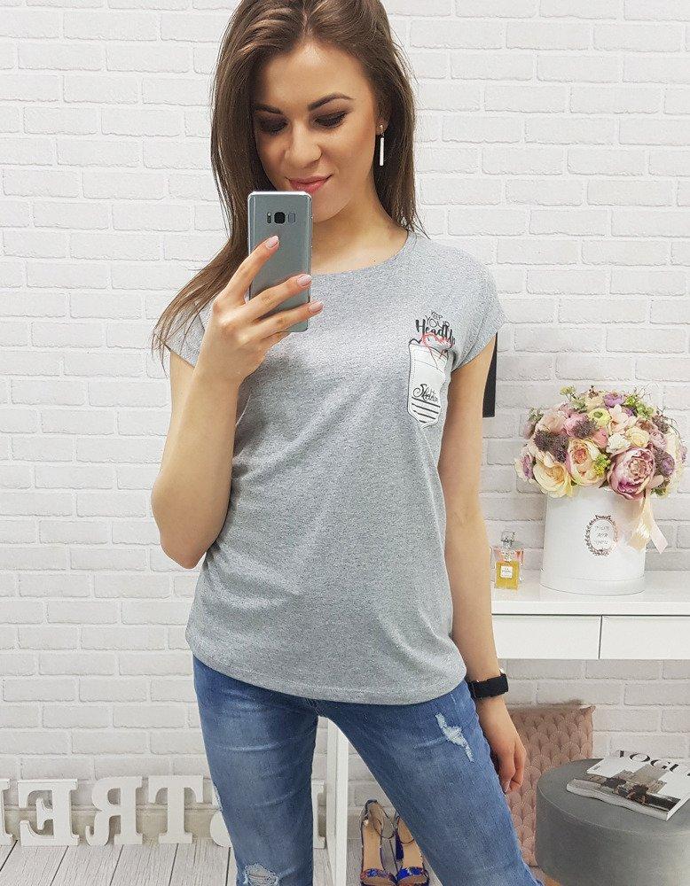 Šedé dámske tričko (ry0332)