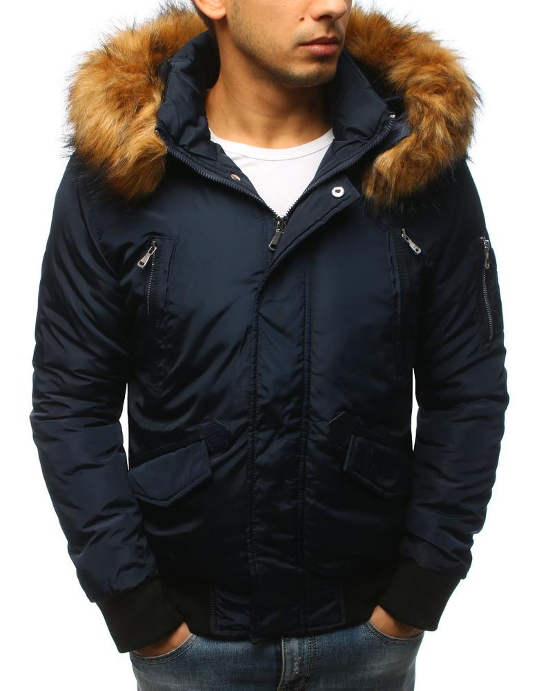 Granátová pánska bunda s kapucňou (tx2460)