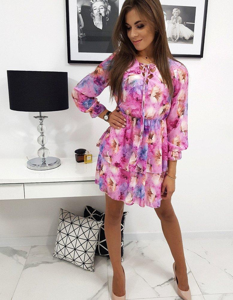 Krásne ružové dámske šaty BELLA (ey0840)