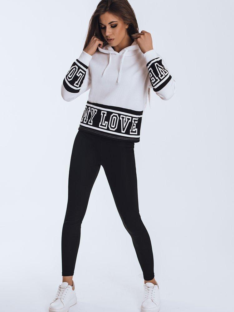 Bluza damska dresowa LOVE biała Dstreet BY0834