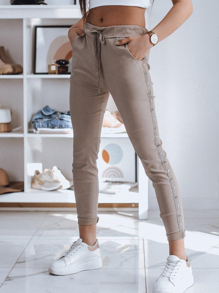 Spodnie damskie dresowe FEND cappuccino Dstreet UY0783