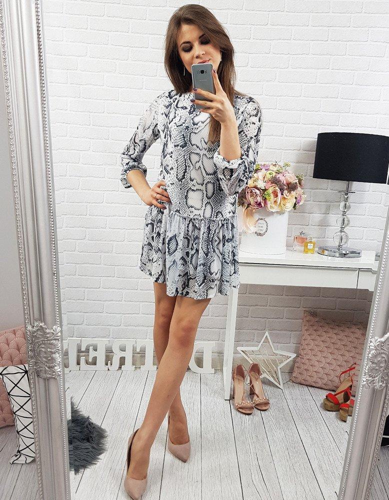 Sukienka Snake biała (ey0172)