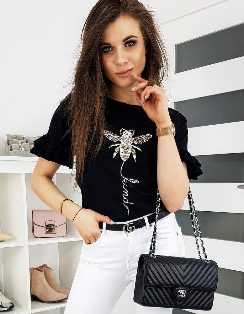 T-shirt damski LIND czarny RY1259