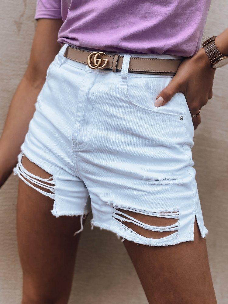 Szorty damskie jeansowe DEVIS białe SY0166