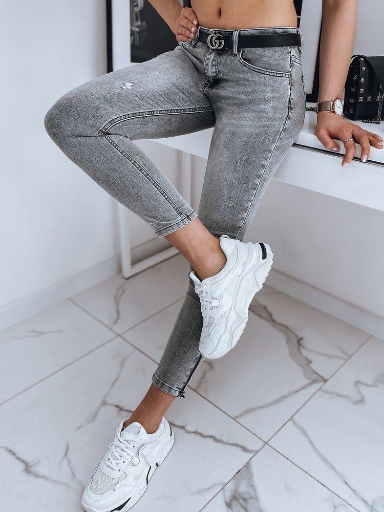 Spodnie damskie jeansowe JERRY II szare Dstreet UY0860