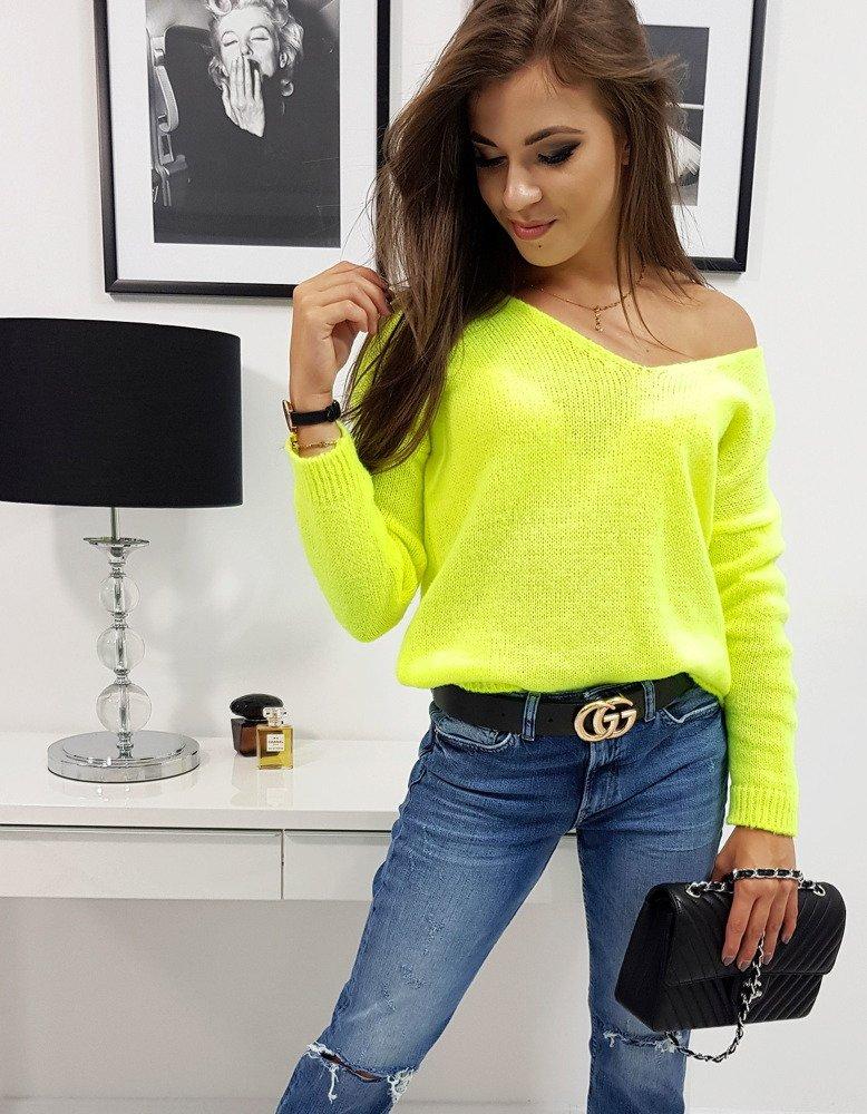 MILLAU dámsky sveter neónový žltý