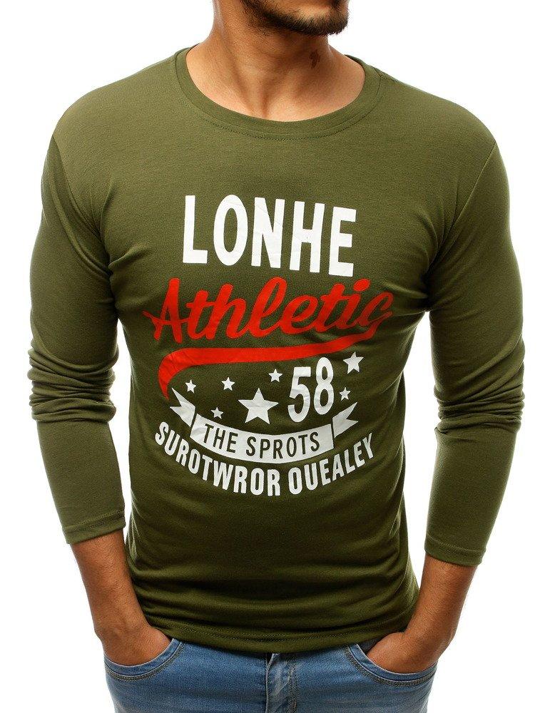 Zelené tričko s dlhým rukávom (lx0506)