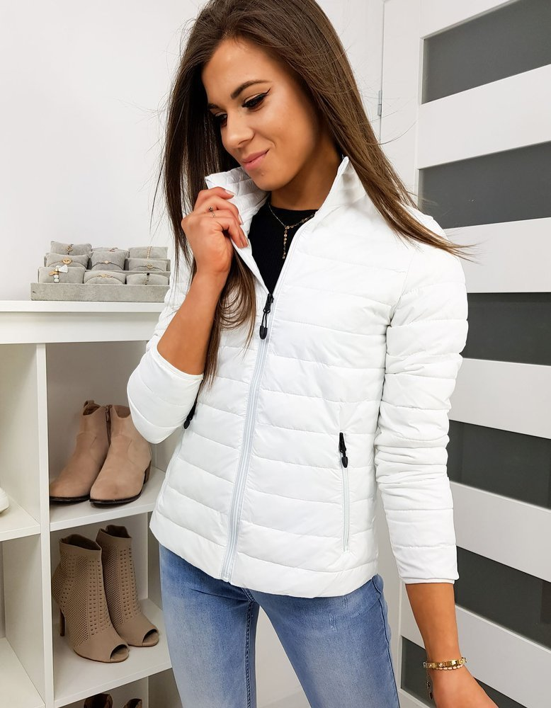 Jarná prešívaná bunda biela