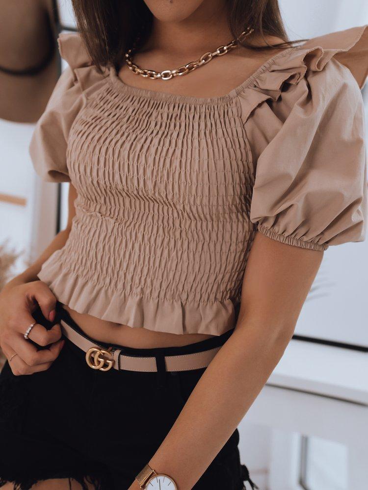 Bluzka damska hiszpanka PAOLA beżowa Dstreet RY1693