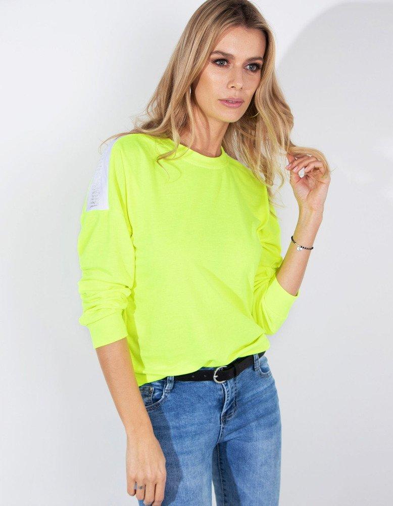 Bluza damska NEON neonowy żółty BY0185
