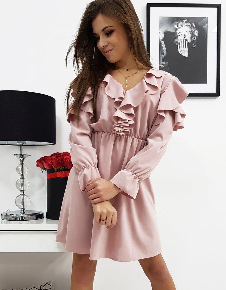 Krásne ružové dámske šaty CELINE (ey0587)