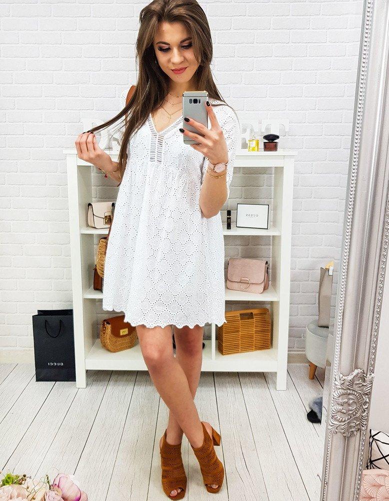 Sukienka damska COMO biała (ey0834)