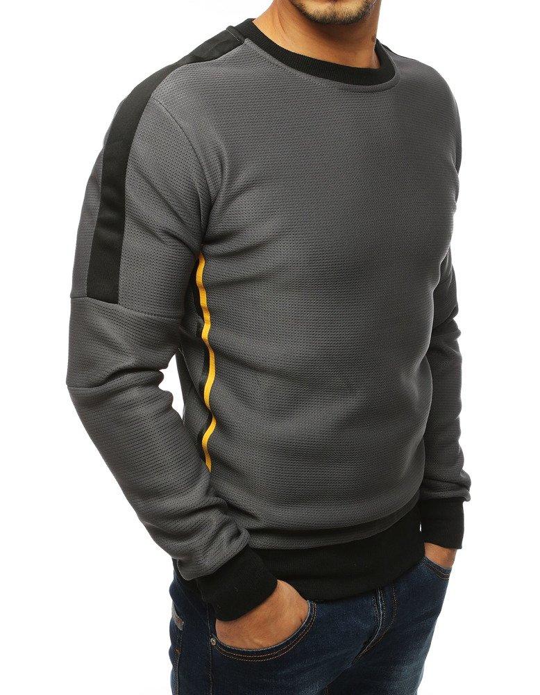 Bluza męska bez kaptura antracytowa BX4106