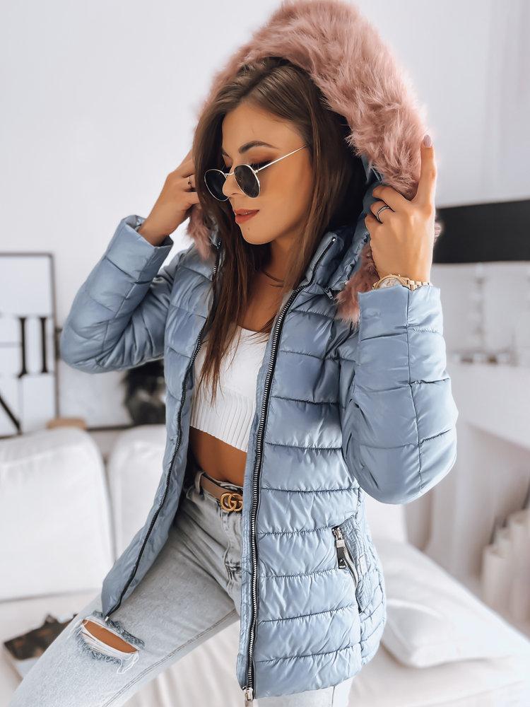 Kurtka damska pikowana SARA zimowa niebieska (ty1006)