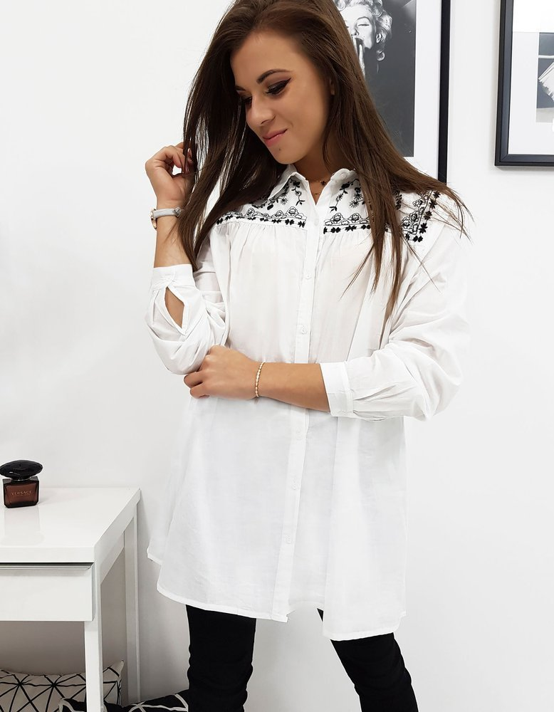 Dánská košeľa biela