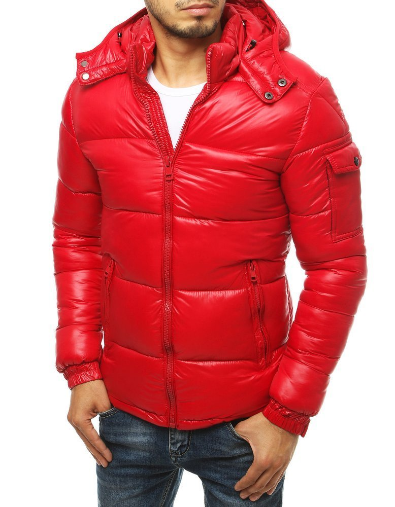 Pekná červená zimná bunda TX3466