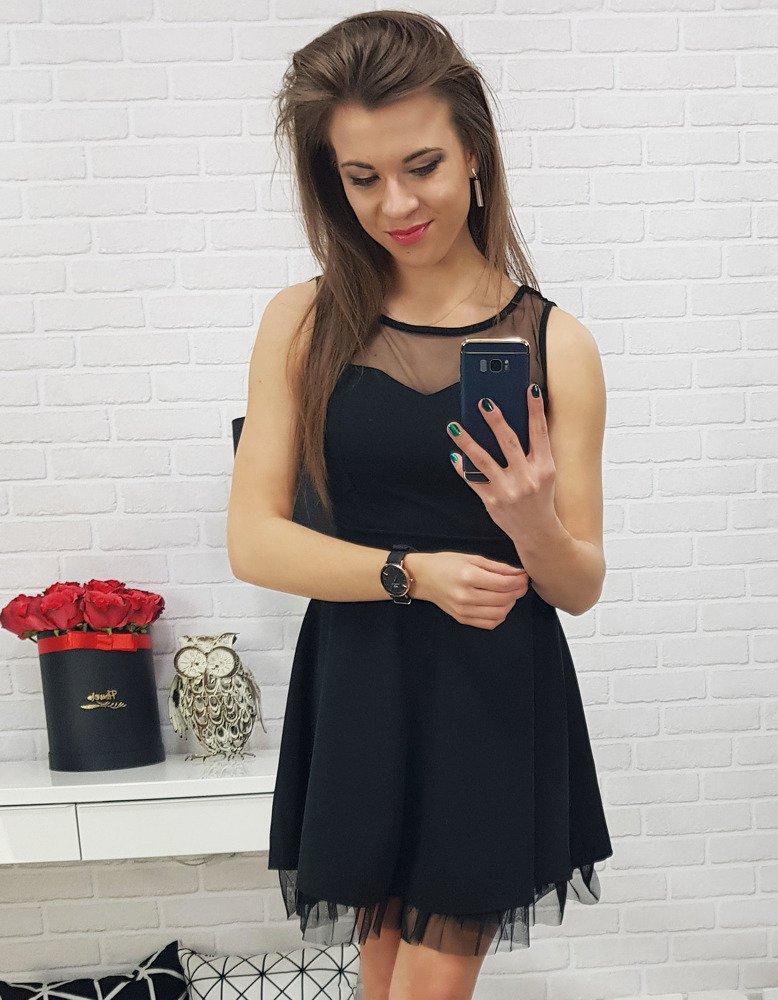 Čierne dámske šaty (ey0644)